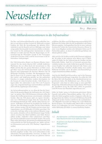 Ghorfa Newsletter 05/2011