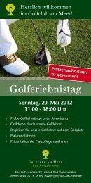 Golferlebnistag - Golfclub am Meer
