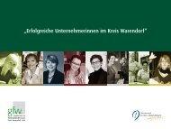 """""""Erfolgreiche Unternehmerinnen im Kreis Warendorf"""" - GfW Warendorf"""