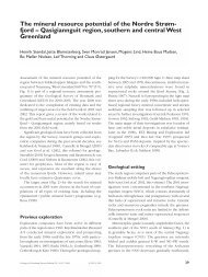 Review of Greenland Avtivities 2001 - The mineral resource ... - Geus