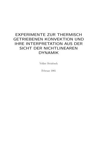 experimente zur thermisch getriebenen konvektion und ihre ...