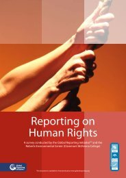 [PDF] Reporting on Human Rights - Global Reporting Initiative