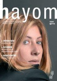 Hayom_37_last - Communauté Israélite Libérale de Genève