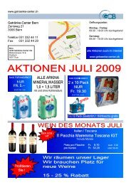Mailing Juli 2009 II - Getränke-Center Bern