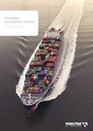 Panalpina Geschäftsbericht 2007