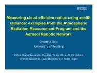 Measuring cloud effective radius using zenith radiance ... - GEWEX