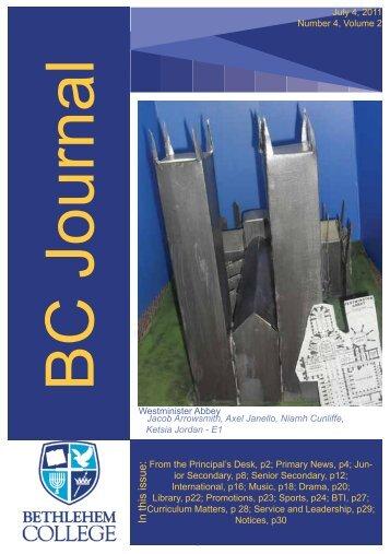 Journal 4 - 2011 - Bethlehem College