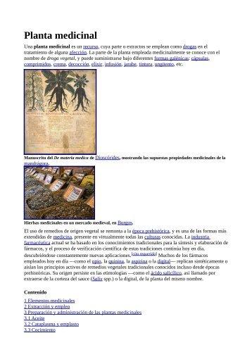 Plantas Medicinales Wikipedia - Gran Fratervidad Tao Gnóstica ...
