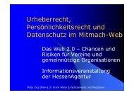 Web2.0 und Ehrenamt 2009 - Gemeinsam Aktiv