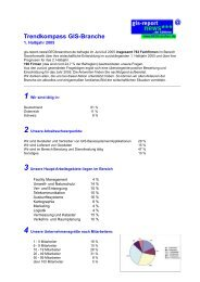 Trendkompass GIS-Branche 1-2005 - GeoBranchen
