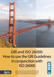GRI and ISO 26000 - Global Reporting Initiative