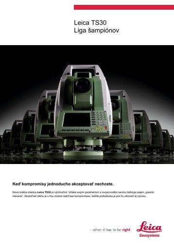 Leica TS30 Liga šampiónov - Geotech