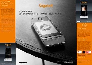 Gigaset SL910 – Le premier téléphone à écran tactile pour la maison