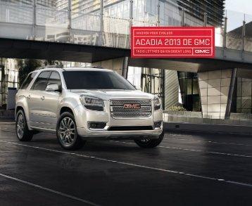 ACADIA 2013 DE GMC - GM Canada