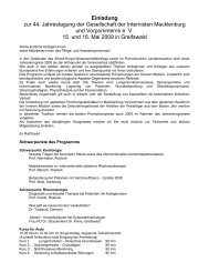 Einladung zur 44. Jahrestagung der Gesellschaft der ... - Gdi-mv.de
