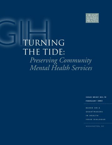 TURNING THE TIDE: Preserving Community Mental Health Services