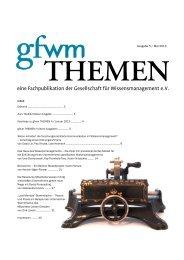 gfwm THEMEN 5 - GfWM - Gesellschaft für Wissensmanagement eV