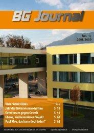 Unser neues Haus S. 6 Jahr der Naturwissenschaften S. 18 ...