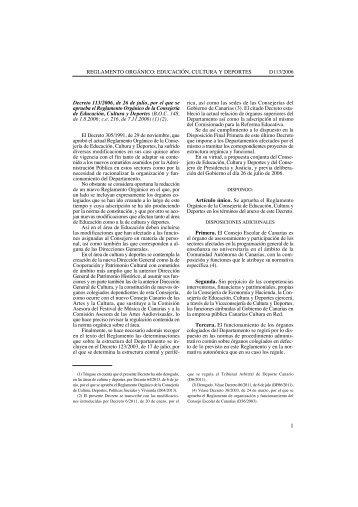 Reglamento Orgánico de la Consejería de Educación, Cultura y ...