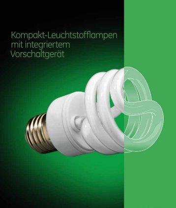 Kompakt-Leuchtstofflampen mit integriertem ... - GE Lighting