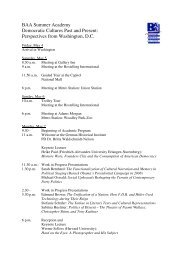 Seminar Program - German Historical Institute Washington DC