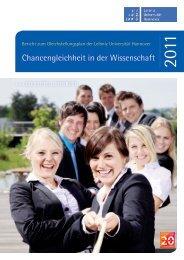 Bericht zum Gleichstellungsplan 2011 - Gleichstellungsbüro der ...