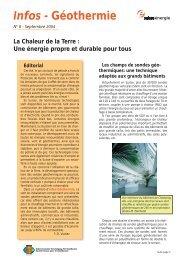 Infos-géothermie n°8
