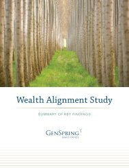Wealth Alignment Study Summary of Key Findings - GenSpring