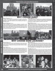 why choose duke lacrosse? - Duke University Athletics