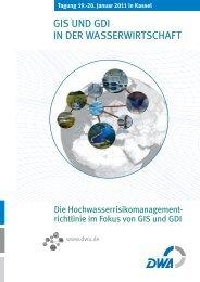 GIS UND GDI IN DER WASSERWIRTSCHAFT - GeoBranchen