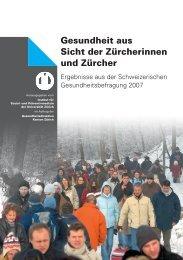 Gesundheit aus Sicht der Zürcherinnen und Zürcher - Institut für ...