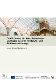Qualifizierung der Koordinatorinnen und Koordinatoren ... - GIB NRW