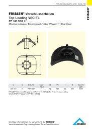 FRIALEN®-Verschlussschellen Top-Loading VSC-TL PE 100 SDR 11