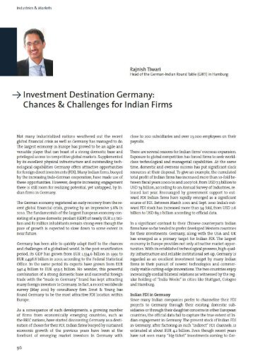 Investment Destination Germany: Chances ... - Global Innovation