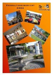 Verwaltungsbericht 2004 - Gemeinde Bisingen