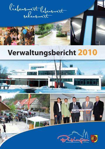 Verwaltungsbericht 2010 (PDF, 8 MB) - Gemeinde Bisingen