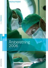 Årsberetning 2006 - Glostrup Hospital