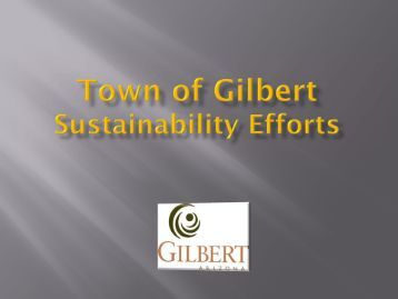 APA - Town of Gilbert Sustainability Efforts