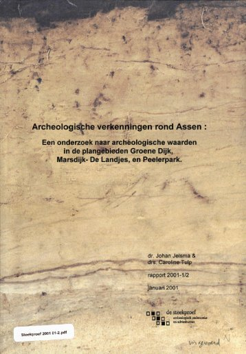 Bijlage 11 Archeologisch onderzoek Groene Dijk - GISnet