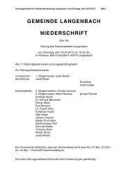 Gemeinderatssitzung vom 30.04.2013 - Langenbach