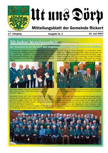 50 Jahre Vereinsarbeit - Gemeinde Rickert