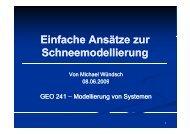 3 Ansätze der Schneemodellierung - Friedrich-Schiller-Universität ...