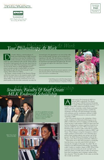 Dev.Faculty fall 03 final - Giving to MSU - Michigan State University