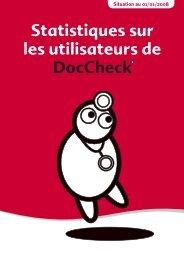 Statistiques sur les utilisateurs de - Doccheck