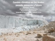 Cambio climático en los Andes - UMass Geosciences - University of ...