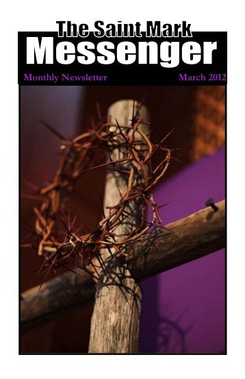 Monthly Newsletter March 2012 - Saint Mark Lutheran Church