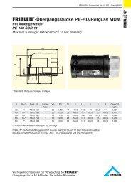 FRIALEN®-Übergangsstücke PE-HD/Rotguss MUM