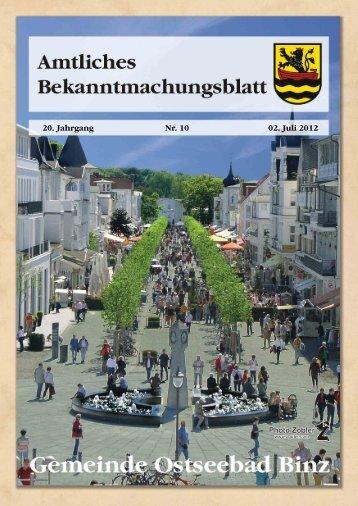 Nr. 10 vom 02. Juli 2012 - Gemeinde Binz