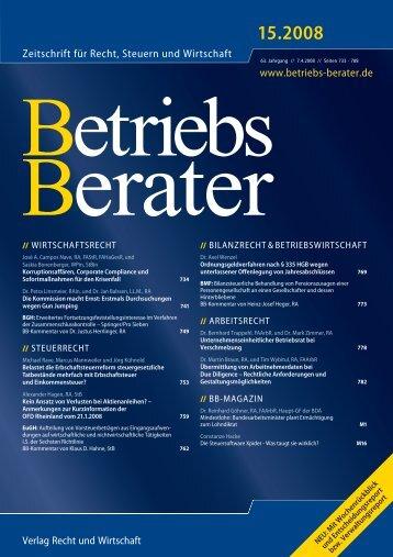 Zeitschrift für Recht, Steuern und Wirtschaft www ... - Gleiss Lutz