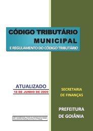 Código Tributário Municipal - Prefeitura de Goiânia